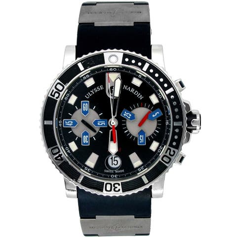 Pre-owned 42.7mm Ulysse Nardin Stainless Steel Watch