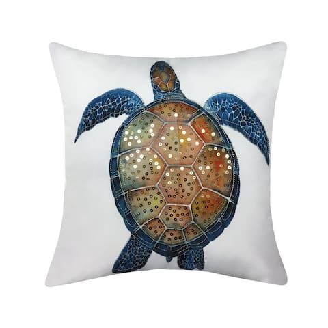 Porch & Den Keylock Printed Turtle Outdoor Pillow