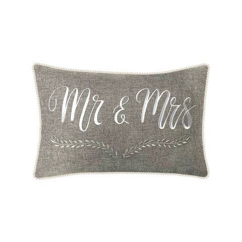 The Gray Barn Tall Oak Mr and Mrs Decorative Pillow