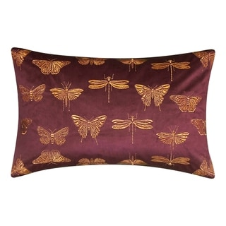 Link to Edie At Home Butterfly Decorative Throw Pillow, Aubergine Purple Similar Items in Decorative Accessories