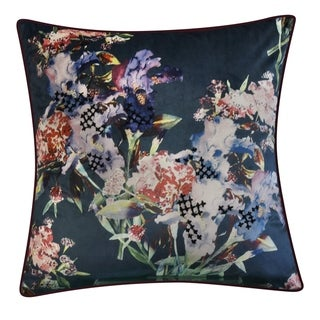 Link to Edie at Home Iris Decorative Throw Pillow, Teal Similar Items in Decorative Accessories