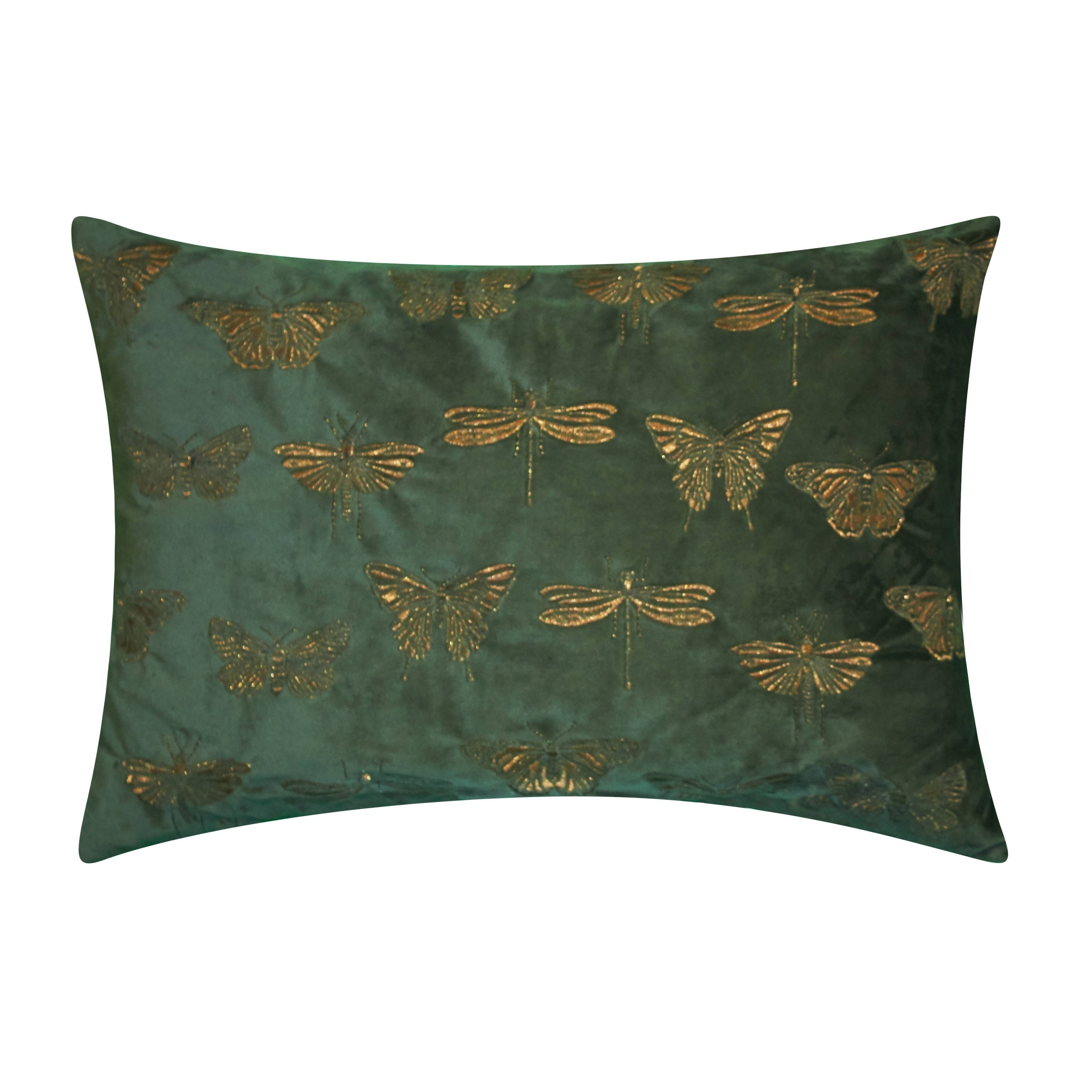 Edie At Home Butterfly Decorative Throw Pillow Forest Green Overstock 30121450