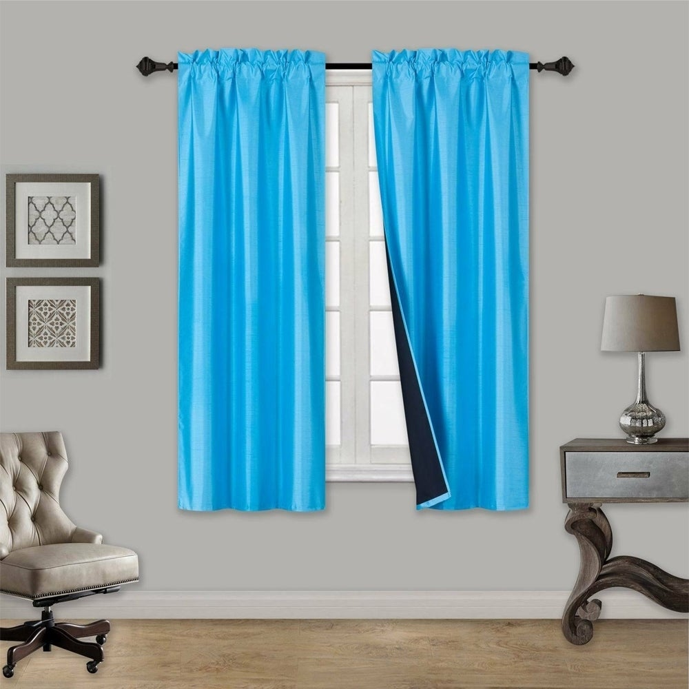 Blackout Rod Pocket Window Curtains