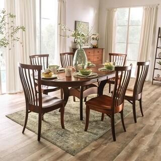 Furniture of America Hina Transitional Brown 7-piece Dining Set