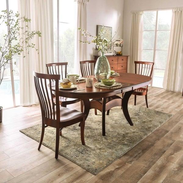 Furniture of America Hina Transitional Brown 5-piece Dining Set