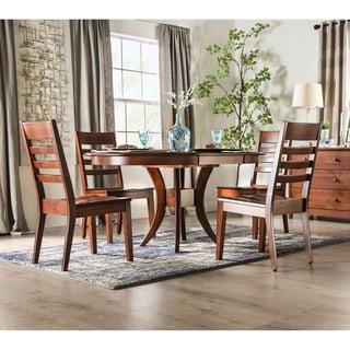 Furniture of America Gita Transitional Brown 5-piece Dining Set
