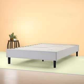 Priage by Zinus Essential Upholstered Platform Bed Frame with Wood Slat Support