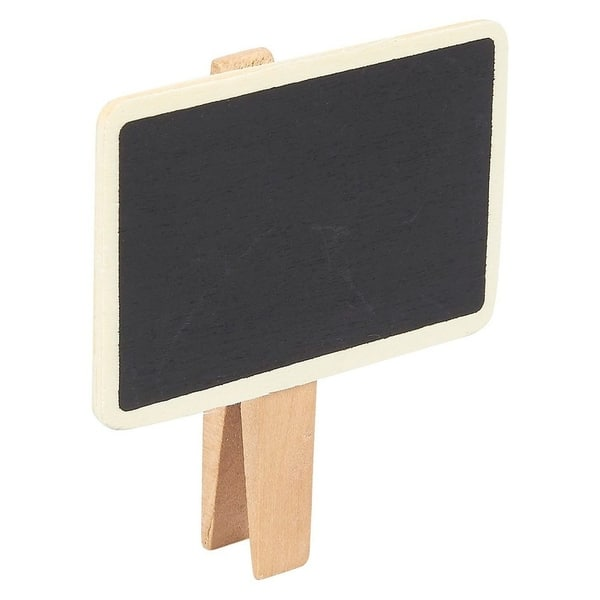 10pcs Wooden Tabletop Blackboard Chalkboard for Display Name Number Tags