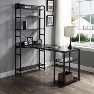 Merax Office Computer Desk with 4 Tier Open Bookshelf