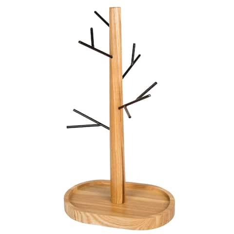 Creative Home Acacia Wood Jewelry Tree Stand