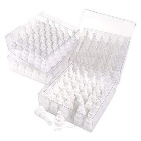 144-Pack Party Bubble Favors, Wedding Cake Design Bubble Wand, White, 0.45-Ounce