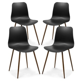 Poly and Bark Alva Dining Chair in Black (Set of 4)