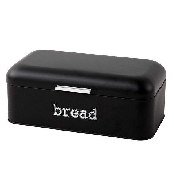 Stainless Steel Bread Box Storage Container for Kitchen Counter, Matte Black