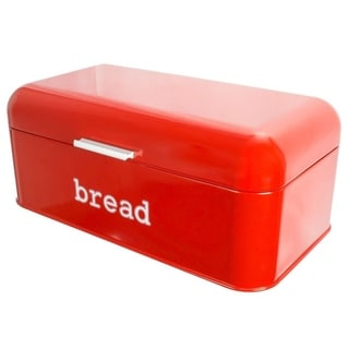 Link to Stainless Steel Bread Box  Storage Container for Kitchen Counter Loaves, Red Similar Items in Kitchen Storage