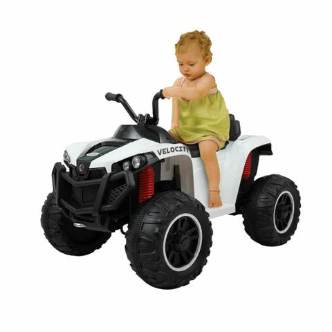 6V Kids Ride On ATV Quad Powered Electric W/ MP3 Dual-Drive Motor