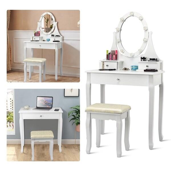 Makeup Vanity Dressing Table Set W