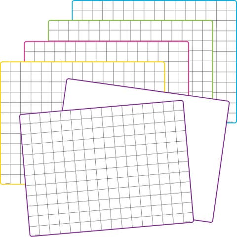 Teacher Created Resources Double-Sided Math Grid Dry Erase Boards