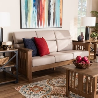 Charlotte Modern Classic Mission Style Upholstered Sofa
