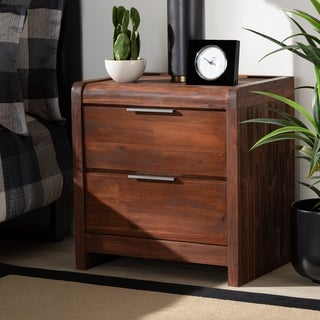 Torres Modern and Contemporary Oak Finished Wood Nightstand