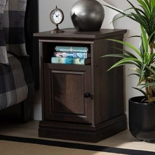 Link to Nolan Traditional Transitional Hazel Walnut Finished Wood Nightstand Similar Items in As Is