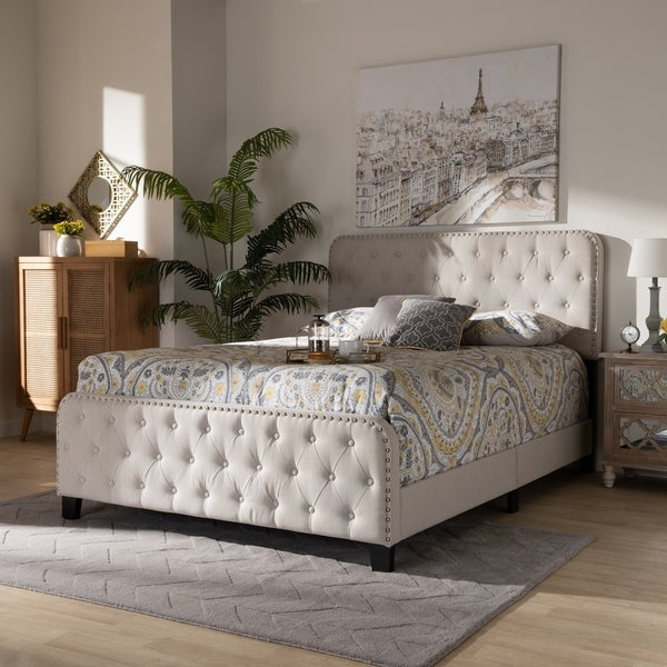 Annalisa Modern Transitional Fabric Upholstered Panel Bed. Opens flyout.
