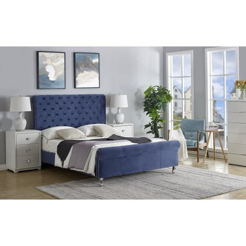 Lollory Upholstered Platform Bed by US PRIDE FURNITURE