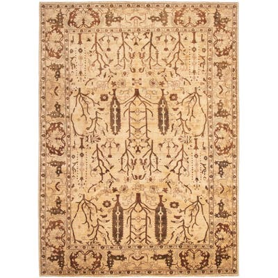 Hand-knotted Chobi Finest Beige Wool Rug