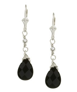 Charming Life Sterling Silver Black Onyx Briolette Earrings