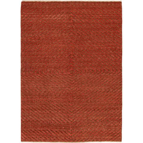 Hand-knotted Ziegler Chobi Copper Wool Rug