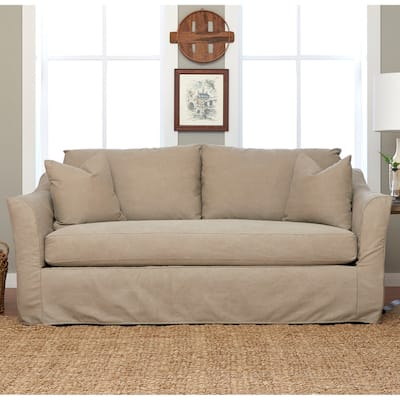 Flared Arms Cotton Sofas Couches