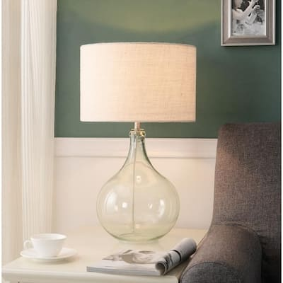 """Glacier 26"""" Seeded Glass Accent Lamp"""