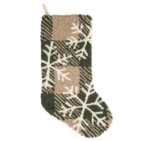 Lockley Snow Hooked Stocking - 8.5 x 20