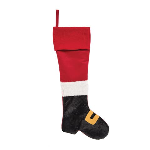 Santa Boot Stocking - 7.5 x 24