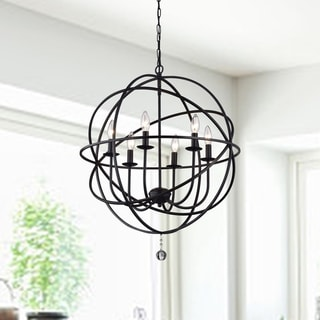Link to Copper Grove Guacara 6-light Globe Chandelier Similar Items in Chandeliers