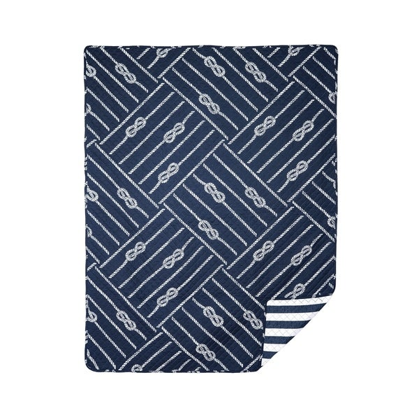 Oliver Quilted Cotton Throw Blanket. Opens flyout.