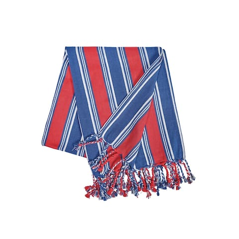 Gideon Stripe Woven Cotton Throw Blanket