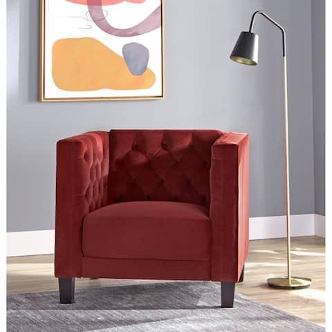 Lifestorey Modern Chesterfield Back Accent Chair