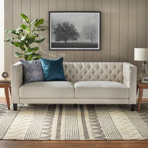 Lifestorey Modern Chesterfield Back Sofa