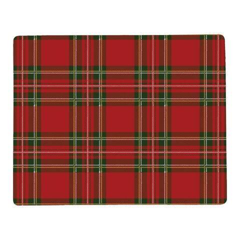 Tartan Hardboard Placemat Set of 6 - 12.75 x 16