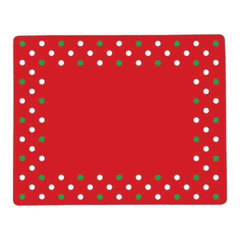 Christmas Polka Dots Hardboard Placemat Set of 6 - 12.75 x 16