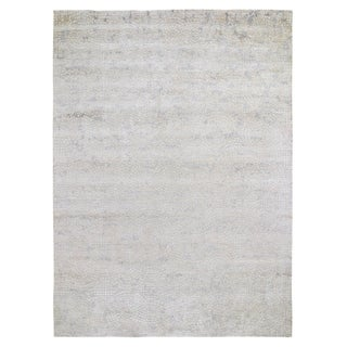 """Shahbanu Rugs Hand Knotted Wool And Pure Silk Mosaic Design Oriental Rug (10'0"""" x 14'2"""") - 10'0"""" x 14'2"""""""