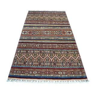 "Shahbanu Rugs Khorjin Design Colorful Super Kazak Pure Wool Hand Knotted Oriental Rug   (5'8"" x 7'10"") - 5'8"" x 7'10"""