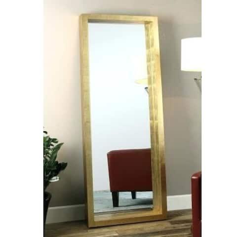 Gold Floor Length Mirror, MDF Frame.