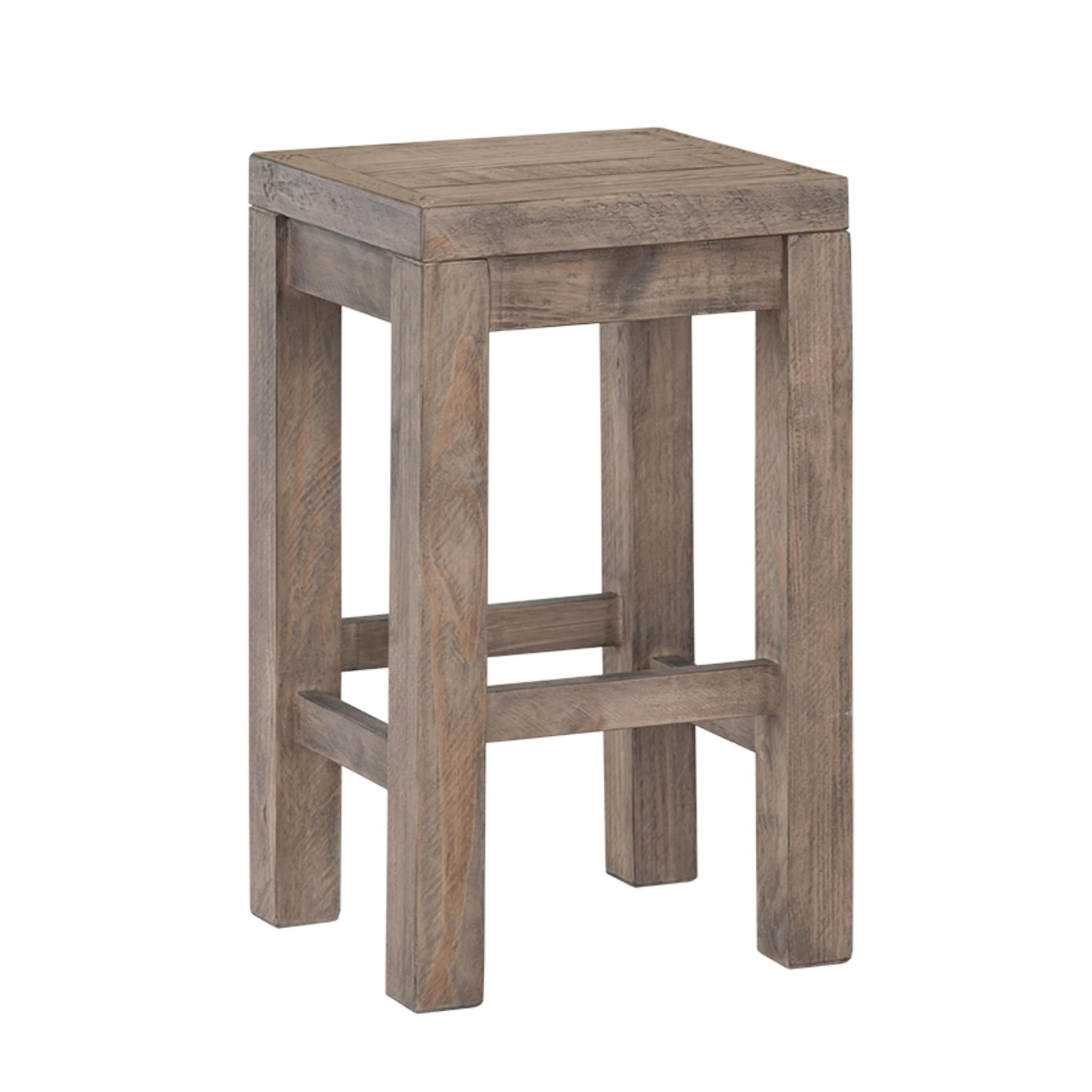 Cortesi Home Stonemill Counter Stool 25 5 In Reclaimed Solid Wood Distressed Light Brown On Sale Overstock 30138241