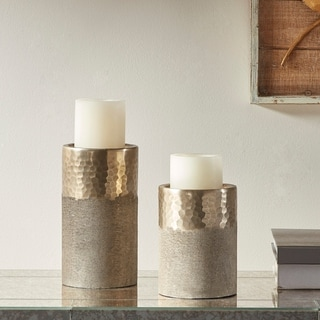 Madison Park Utrecht Gold Candle Holder Set of 2