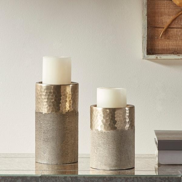 Madison Park Utrecht Gold Candle Holder Set of 2