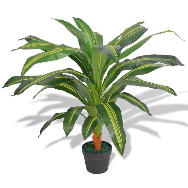 "Artificial Dracaena Plant with Pot 35.4"" Green"