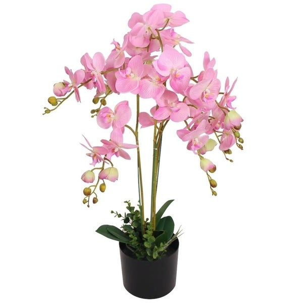 "Artificial Orchid Plant with Pot 29.5"" Pink"