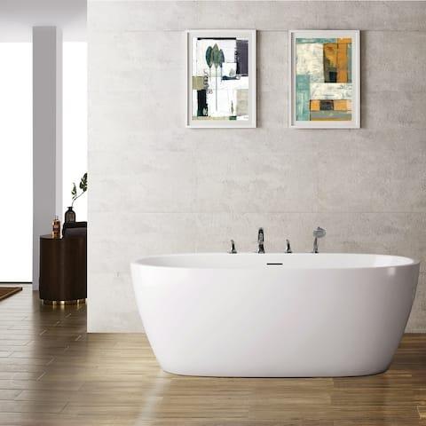 """Everly 59"""" x 31.5"""" Soaking Bathtub"""