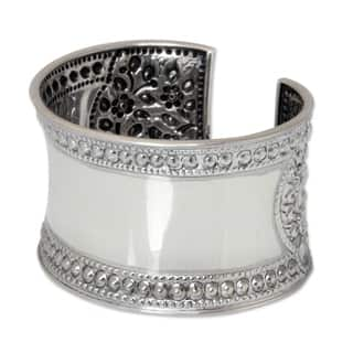 Jasmine Lake Lace Look Floral Filigree Repousse on Highly Polished Handmade 925 Sterling Silver Wome|https://ak1.ostkcdn.com/images/products/3014090/P11160171.jpg?impolicy=medium